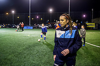 Wednesday 08 February 2017<br /> Pictured: Katy Hosford<br /> Re: Premier League Kicks event at Baglan Boys and girls Club, Port Talbot, Wales UK