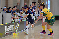 Japan&rsquo;s Eriko Chiba in action during the World Floorball Championships 2017 Qualification for Asia Oceania Region Final - Australia v Japan at ASB Sports Centre , Wellington, New Zealand on Sunday 5 February 2017.<br /> Photo by Masanori Udagawa<br /> www.photowellington.photoshelter.com.