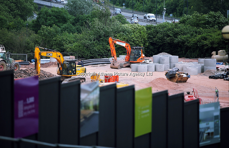 Pictured: The building of the ICC under way. Friday 23 June 2017<br />