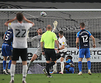 Derby County's Jason Knight scores his side's first goal  beating Preston North End's Declan Rudd<br /> <br /> Photographer Mick Walker/CameraSport<br /> <br /> Carabao Cup Second Round Northern Section - Derby County v Preston North End - Tuesday 15th September 2020 - Pride Park Stadium - Derby<br />  <br /> World Copyright © 2020 CameraSport. All rights reserved. 43 Linden Ave. Countesthorpe. Leicester. England. LE8 5PG - Tel: +44 (0) 116 277 4147 - admin@camerasport.com - www.camerasport.com