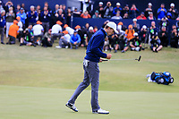 Jordan Spieth (USA) on the 18th during final round of The Open Championship 146th Royal Birkdale, Southport, England. 23/07/2017.<br /> Picture Fran Caffrey / Golffile.ie<br /> <br /> All photo usage must carry mandatory copyright credit (&copy; Golffile | Fran Caffrey)