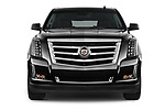 Car photography straight front view of a 2015 Cadillac Escalade ESV 2WD Luxury 5 Door SUV Front View