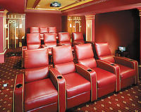 Red Theater Tiered Seating