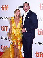 "TORONTO, ONTARIO - SEPTEMBER 07: Jennifer Lopez and Alex Rodriguez attend the ""Hustlers"" premiere during the 2019 Toronto International Film Festival at Roy Thomson Hall on September 07, 2019 in Toronto, Canada.    <br /> CAP/MPI/IS<br /> ©IS/MPI/Capital Pictures"