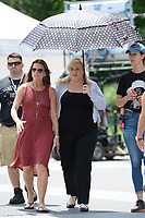 www.acepixs.com<br /> July 12, 2017 New York City<br /> <br /> Rebel Wilson filming the movie 'Isn't It Romantic' in Washington Square Park on in New York City on July 12, 2017.<br /> <br /> Credit: Kristin Callahan/ACE Pictures<br /> <br /> Tel: 646 769 0430<br /> Email: info@acepixs.com