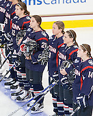 Kelly Harris (UConn - 22), Jordy Zacharias (UConn - 21), Margaret Zimmer (UConn - 19), Caitlin Hewes (UConn - 17), Justine Fredette (UConn - 14) - The Boston College Eagles defeated the visiting UConn Huskies 4-0 on Friday, October 30, 2015, at Kelley Rink in Conte Forum in Chestnut Hill, Massachusetts.