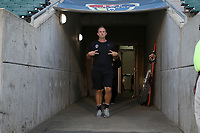 Cary, North Carolina  - Saturday September 09, 2017: Scott Vallow prior to a regular season National Women's Soccer League (NWSL) match between the North Carolina Courage and the Houston Dash at Sahlen's Stadium at WakeMed Soccer Park. The Courage won the game 1-0.
