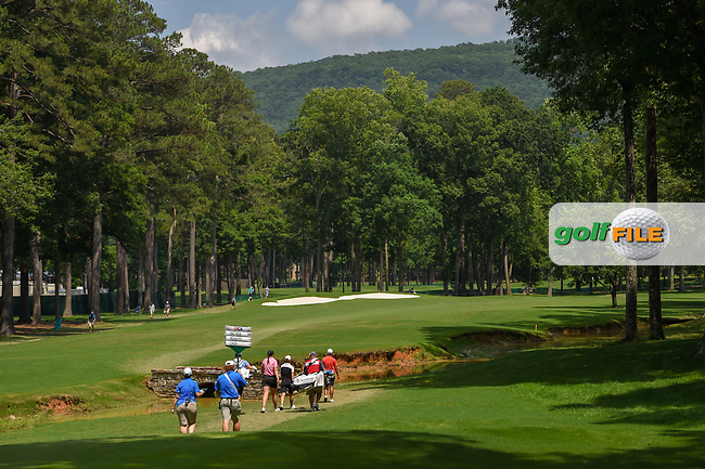 Olivia Mahaffey (a)(NIR), Catriona Matthew (SCT), and Peiyun Chien (TAI) head down 2 during round 1 of the U.S. Women's Open Championship, Shoal Creek Country Club, at Birmingham, Alabama, USA. 5/31/2018.<br /> Picture: Golffile   Ken Murray<br /> <br /> All photo usage must carry mandatory copyright credit (© Golffile   Ken Murray)