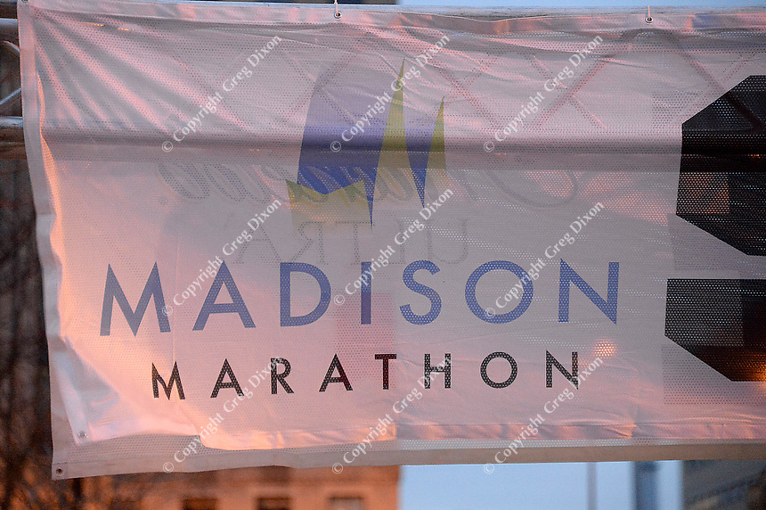 The 2014 Madison Marathon, Sunday, November 9, 2014, in Madison, Wisconsin
