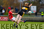 Mike Foley, East Kerry in action against Johnny Buckley, Dr Crokes during the Kerry County Senior Club Football Championship Final match between East Kerry and Dr. Crokes at Austin Stack Park in Tralee, Kerry.