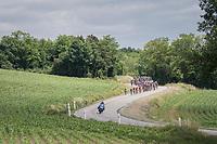 snaking peloton<br /> <br /> Stage 6: Le parc des oiseaux/Villars-Les-Dombes &rsaquo; La Motte-Servolex (147km)<br /> 69th Crit&eacute;rium du Dauphin&eacute; 2017