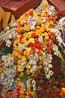 Flower covered floats used in 2010  Rose Parade, Tournament of Roses, Pasadena; CA Salute to the History of the Rose Bowl