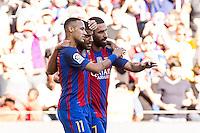 FC Barcelona's Neymar Santos Jr Rafinha Alcantara and Arda Turan during the La Liga match between Futbol Club Barcelona and Deportivo de la Coruna at Camp Nou Stadium Spain. October 15, 2016. (ALTERPHOTOS/Rodrigo Jimenez) NORTEPHOTO.COM