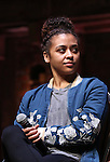 Sasha Hollinger during the Q & A for The Rockefeller Foundation and The Gilder Lehrman Institute of American History sponsored High School student #EduHam matinee performance of 'Hamilton' at the Richard Rodgers Theatre on 2/15/2017 in New York City.