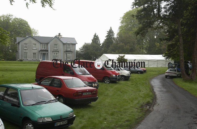 The scene at Bishop Willie Walsh's house in Ennis during the traveller wedding reception. Photograph by John Kelly.