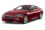 2017 BMW 6-Series-Coupe 650i 3 Door Coupe Angular Front stock photos of front three quarter view