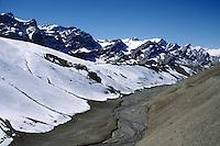 The NAMIKA LA pass (3718 meters), close to the Pakstani border, on the SRINIGAR - LEH HIGHWAY  - LADAKH, INDIA.