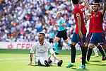 Real Madrid's player Sergio Ramos during a match of La Liga Santander at Santiago Bernabeu Stadium in Madrid. September 10, Spain. 2016. (ALTERPHOTOS/BorjaB.Hojas)