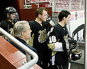 Gregory Boc (Bryant - Assistant Coach), ?, ?, Cody Lange (Bryant - 18) - The Boston College Eagles defeated the Bryant University Bulldogs 2-1 on Saturday, December 11, 2010, at Conte Forum in Chestnut Hill, Massachusetts.