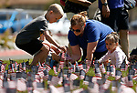 Piper McCarthy and her children Marcus, Matthew and Maggie participate in the 5th annual Veterans Suicide Awareness March, hosted by the Western Nevada College Veterans Resource Center, in Carson City, Nev., on Saturday, May 4, 2019. <br /> Photo by Cathleen Allison/Nevada Momentum
