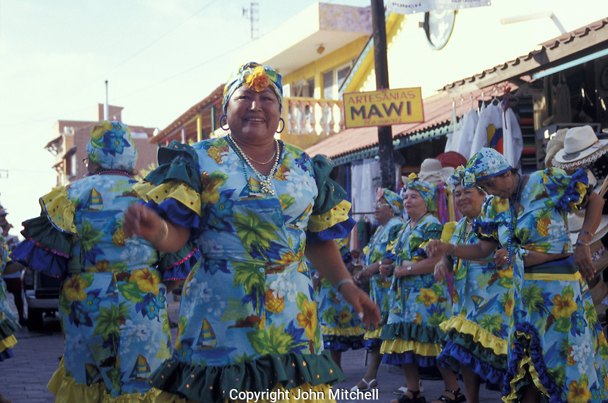 Middle-aged Carnaval dancers on Isla Mujeres, Quintana Roo, Mexico