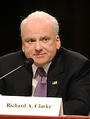 Washington, D.C. - March 24, 2004 -- Richard A. Clarke, former National Coordinator for Counterterrorism, National Security Council, testifies at a hearing of the National Commission on Terrorist Attacks Upon the United States (9/11 Commission) in Washington, DC on March 24, 2004.<br /> Credit: Ron Sachs / CNP<br /> [RESTRICTION: No New York Metro or other Newspapers within a 75 mile radius of New York City]