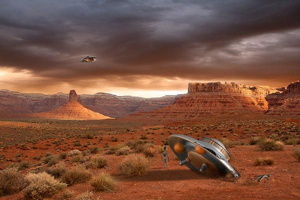 UFO crash with fatality