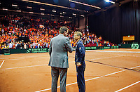 15-sept.-2013,Netherlands, Groningen,  Martini Plaza, Tennis, DavisCup Netherlands-Austria, Interview Jan Siemerink<br /> Photo: Henk Koster