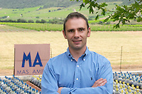 Stephane Gallet oenologist winemaker. Mas Amiel, Maury, Roussillon, France