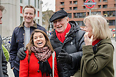 Tulip Soddiq with Neil and Glenys Kinnock.  General election 2015: Tulip Siddiq, Labour candidate for Hampstead & Kilburn, the second most marginal seat in the UK, canvasses voters in Swiss Cottage.
