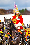Day 2. Royal Windsor Horse Show. Windsor. Berkshire. UK. Band of the Household Cavalry. Major Craig Hallatt. Director of Music.  10/05/2018. ~ MANDATORY Credit Elli Birch/Sportinpictures - NO UNAUTHORISED USE - 07837 394578