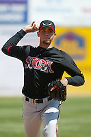 David Pauley of the Lake Elsinore Storm warms up before pitching during a 2004 season California League game against the Lancaster JetHawks at The Hanger in Lancaster, California. (Larry Goren/Four Seam Images)
