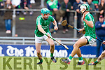 Ally O'Connor Ballyduff in action against  Lixnaw in the Senior County Hurling Final in Austin Stack Park on Sunday