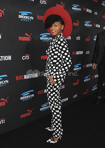 BEVERLY HILLS, CA - FEBRUARY 7:  Janelle Monae at the 5th Annual Roc Nation Pre-Grammy Brunch at Roc Nation offices on February 7, 2015 in Beverly Hills, California. SKPG/Mediapunch