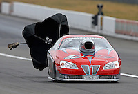 Aug. 3, 2013; Kent, WA, USA: NHRA competition eliminator driver Bob Marshall during qualifying for the Northwest Nationals at Pacific Raceways. Mandatory Credit: Mark J. Rebilas-USA TODAY Sports
