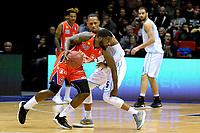 GRONINGEN -  Basketbal, Donar - New Heroes Den Bosch, Martiniplaza, Dutch Basketbal League, seizoen 2018-2019,  26-01-2019, Den Bosch speler Vernon Taylor in duel met Donar speler Teddy Gipson