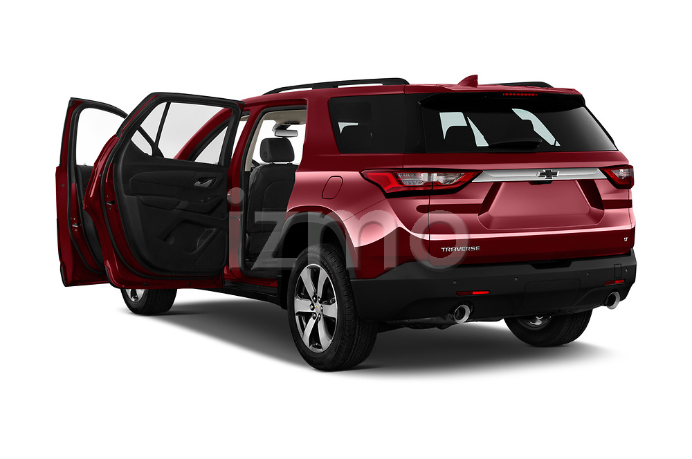 Car images close up view of a 2019 Chevrolet traverse 3LT 5 Door SUV doors