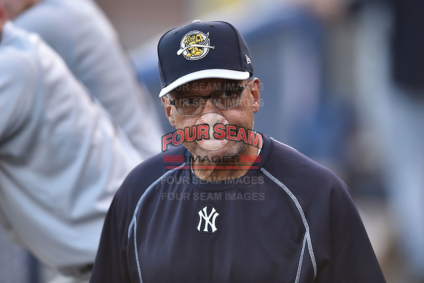 New York Yankees special assistant to the general manager Reggie Jackson after a game against the Asheville Tourists on June 13, 2015 in Asheville, North Carolina. The Tourists defeated the RiverDogs 10-6. (Tony Farlow/Four Seam Images)