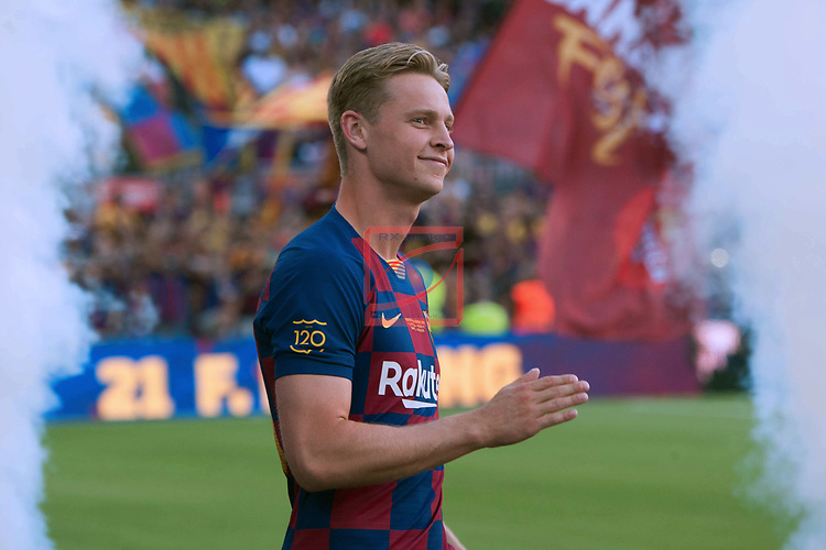Presentation 1st team FC Barcelona 2019/2020.<br /> Frenkie de Jong.