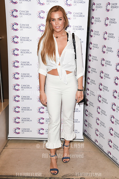 Chloe Meadows arriving at James Ingham&rsquo;s Jog On to Cancer, in aid of Cancer Research UK at The Roof Gardens in Kensington, London.  <br /> 12 April  2017<br /> Picture: Steve Vas/Featureflash/SilverHub 0208 004 5359 sales@silverhubmedia.com