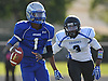 Ronald James, Jr., Copiague quarterback, scrambles out of the pocket during the third quarter of a Suffolk County Division II varsity football game against Centereach at Copiague High School on Saturday, Sept. 24, 2016. Centereach won by a score of 26-0.