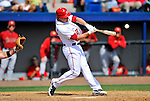 4 March 2012: Washington Nationals outfielder Jason Michaels singles against the Houston Astros at Space Coast Stadium in Viera, Florida. The Astros defeated the Nationals 10-2 in Grapefruit League action. Mandatory Credit: Ed Wolfstein Photo