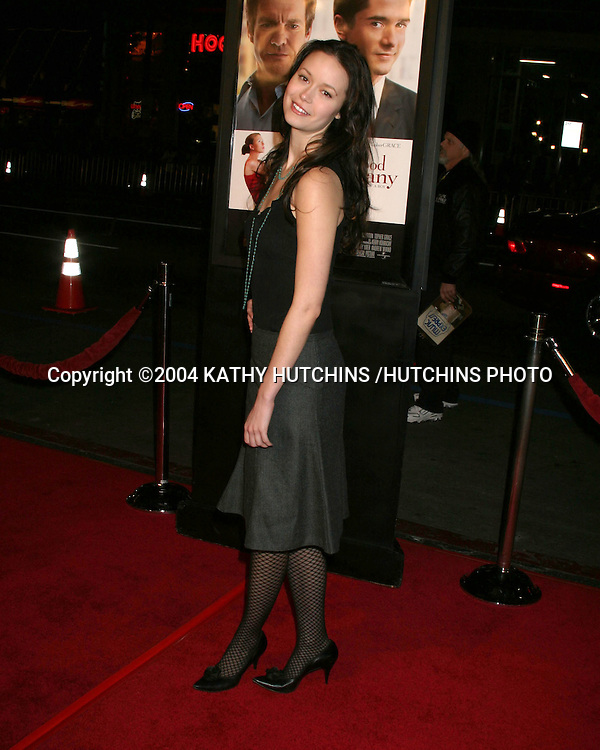 "©2004 KATHY HUTCHINS /HUTCHINS PHOTO.""IN GOOD COMPANY"" PREMIERE.GRAUMAN'S CHINESE THEATER .LOS ANGELES, CA.DECEMBER 6, 2004..SUMMER GLAU."