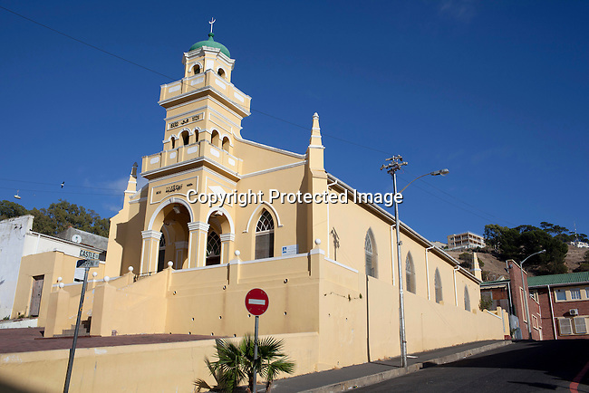 CAPE TOWN, SOUTH AFRICA - MARCH 21: A Mosque stands in the Bo-Kaap area on March 21, 2012 in Cape Town, South Africa (Photo by Per-Anders Pettersson)