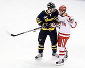 Jesse Todd (Merrimack - 27), Joe Pereira (BU - 6) - The Boston University Terriers defeated the Merrimack College Warriors 6-4 (EN) on Saturday, January 16, 2010, at Agganis Arena in Boston, Massachusetts.