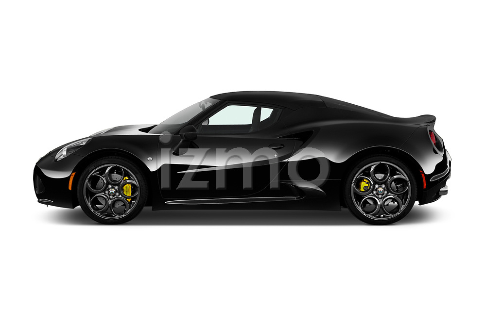 Car driver side profile view of a 2016-2017 Alfa Romeo 4C Base 2 Door Coupe
