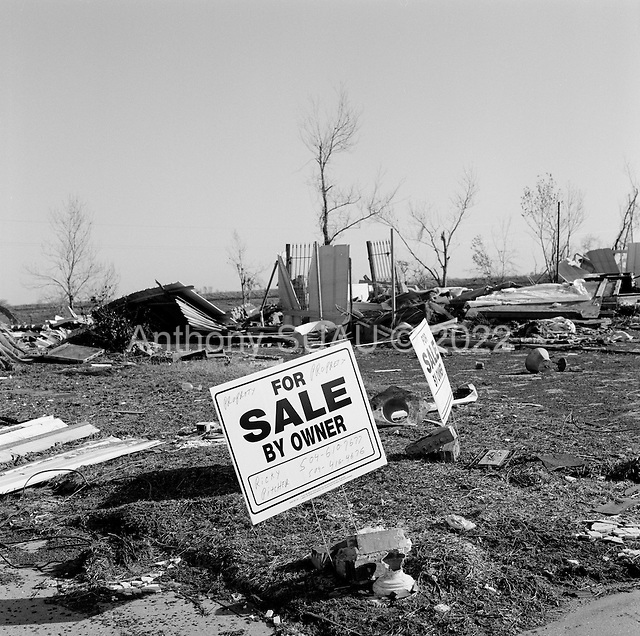 New Orleans, Louisianna.USA.December 1, 2005 ..Hurricane Katrina damage and recovery at St. Bernard's Parish.