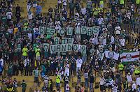 SÃO PAULO, SP, 30 DE MARÇO DE 2013 - CAMPEONATO PAULISTA - PALMEIRAS x LINENSE: Torcida do Palmeiras durante partida Palmeiras x Linense, válida pela 16ª rodada do Campeonato Paulista de 2013, disputada no estádio do Pacaembu em São Paulo. FOTO: LEVI BIANCO - BRAZIL PHOTO PRESS.