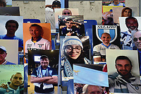 Pictures of Lazio supporters are seen on the stands during the Serie A football match between SS Lazio and ACF Fiorentina at stadio Olimpico in Roma ( Italy ), June 27th, 2020. Play resumes behind closed doors following the outbreak of the coronavirus disease. Photo Antonietta Baldassarre / Insidefoto