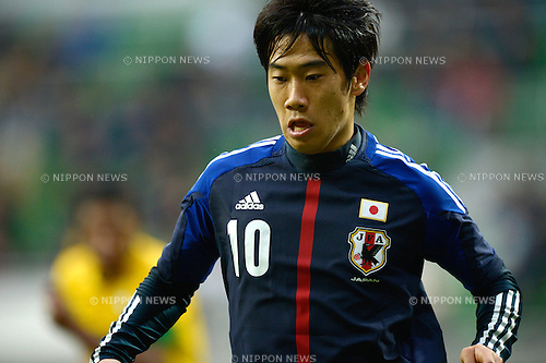 Shinji Kagawa (JPN),.OCTOBER 16, 2012 - Football /Soccer :.International friendly match between Japan 0-4 Brazil at Municipal Stadium in Wroclaw, Poland. (Photo by FAR EAST PRESS/AFLO)